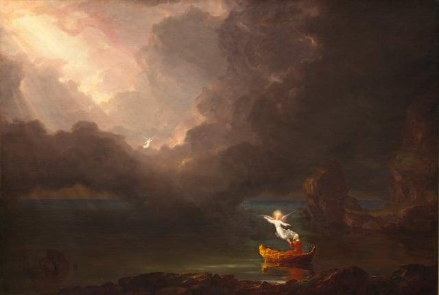 Thomas Cole,《生命之旅-老年》。(公有領域)