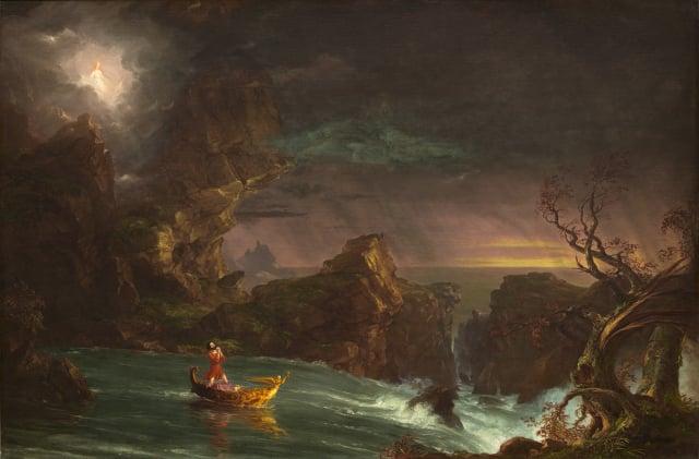 Thomas Cole,《生命之旅-中年》。(公有領域)