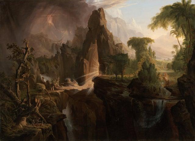 Thomas Cole,《哈德遜河上陽光明媚的早晨》。(公有領域)