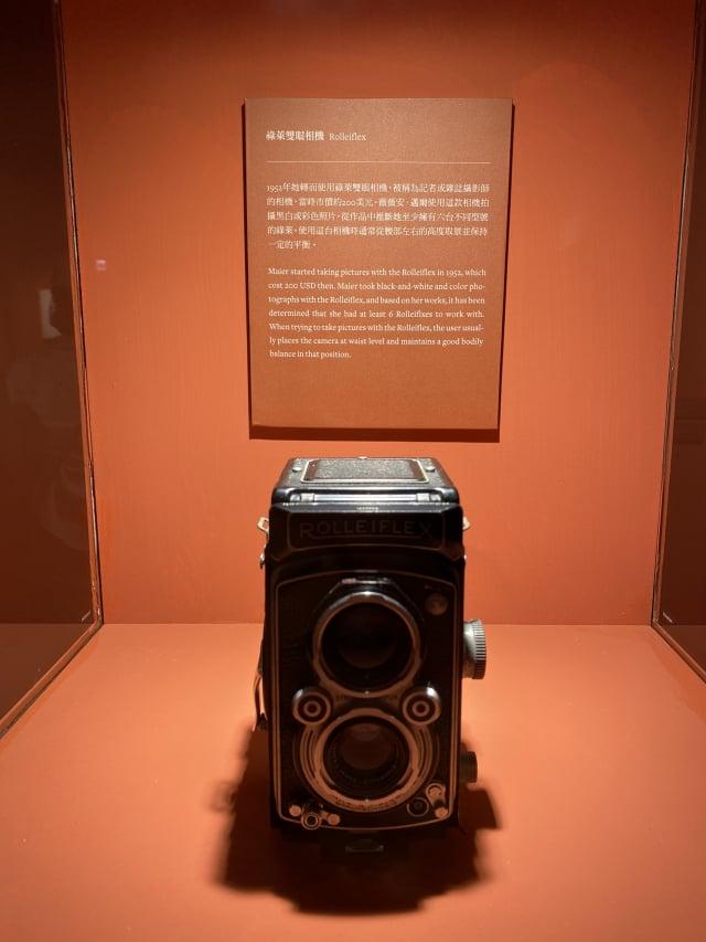 Vivian Maier曾使用過相同型號的祿萊雙眼相機。(攝影/記者林紫馨)