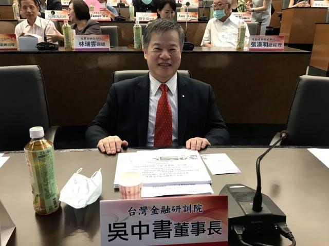 臺灣金融研訓院董事長吳中書。(記者賴意晴/攝影)