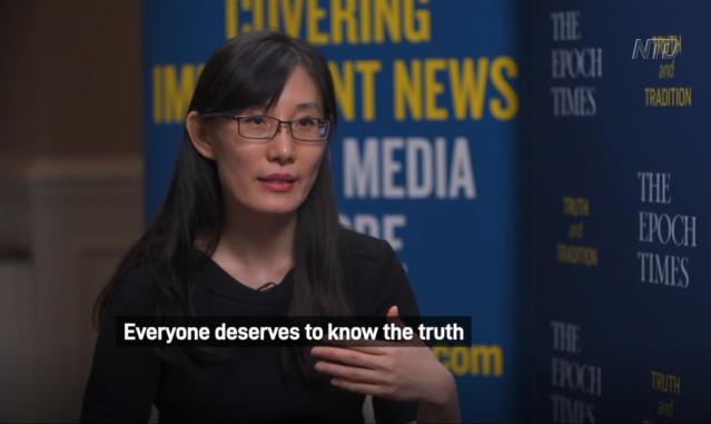 從香港出逃到美國的病毒專家閆麗夢博士,接受英文大紀元專訪。(英文大紀元)