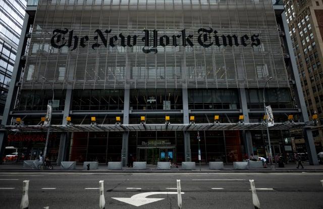 《紐約時報》已經默默刪除網站上數以百計的中共宣傳業配文。(JOHANNES EISELE/AFP via Getty Images)