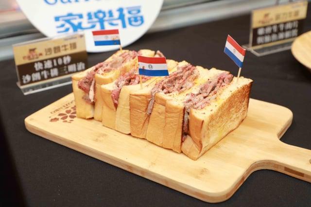 快速10秒沙朗牛排三明治。(品牌提供)