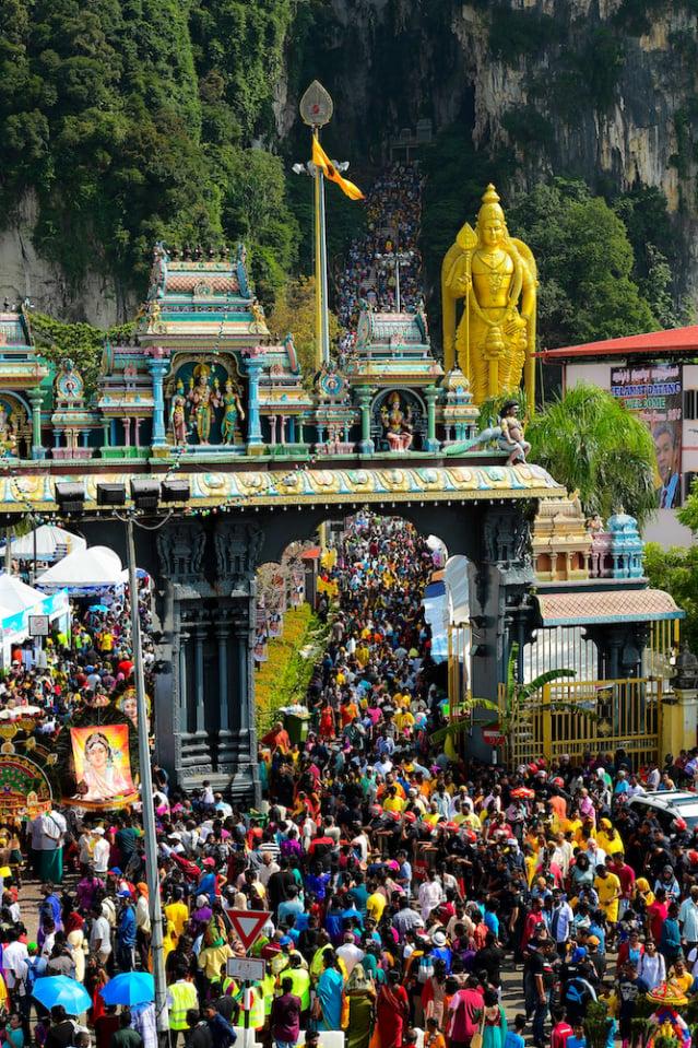 黑風洞的大寶森節慶典活動相當盛大,已成為馬來西亞標誌性的旅遊景點。(馬來西亞觀光局提供)