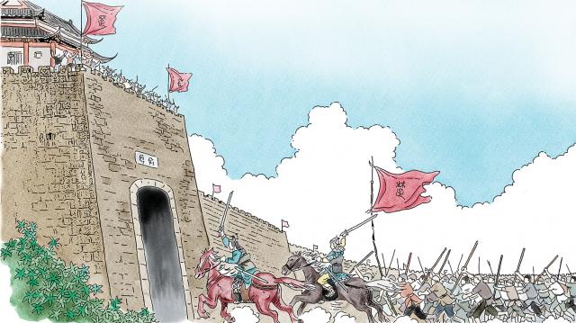 僅僅一個月的時間,起義軍就占領了河南和安徽交界地方的六個城兵車達到六七百輛,騎兵一千多人,步兵十幾萬人,發展速度非常之快。(新唐人電視台提供)