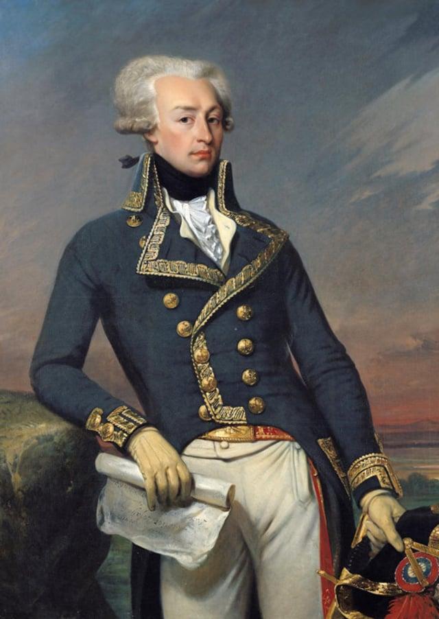 1792年的拉法葉特侯爵(Gilbert du Motier, Marquis de La Fayette,1757年至1834年)。(維基百科)