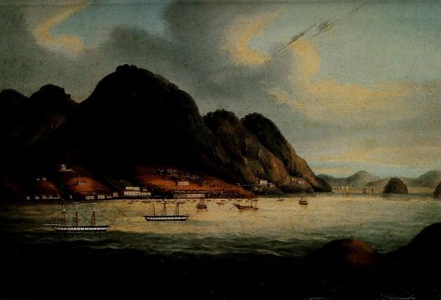 成為殖民地後的香港島。(維基百科)