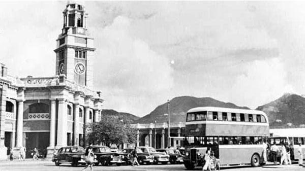 1952年,九廣鐵路尖沙咀站。(維基百科)
