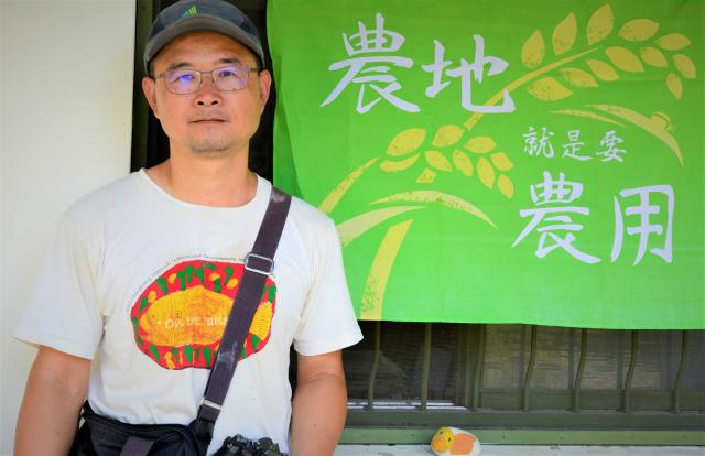 觀樹教育基金會主任江進富表示,隱身在淺山裡的「裡山塾」小學堂以「里山生活」及「食在很重要」為發展的主軸。(攝影/賴瑞)