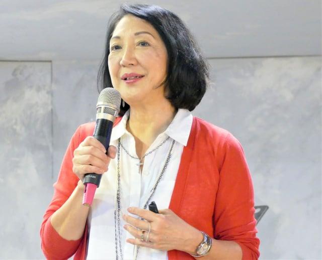 在中共病毒仍肆虐全球的時刻,雷洛美從美國來到臺灣講演。(攝影/鄧玫玲)