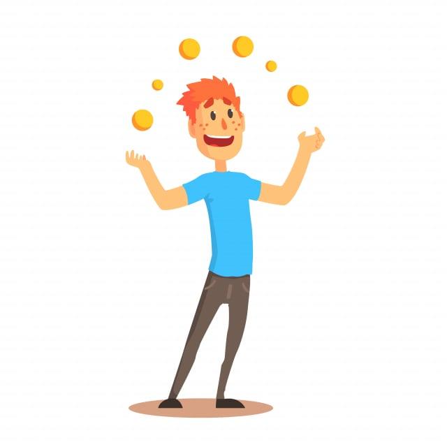 juggle:拋接小球雜耍。(123RF)