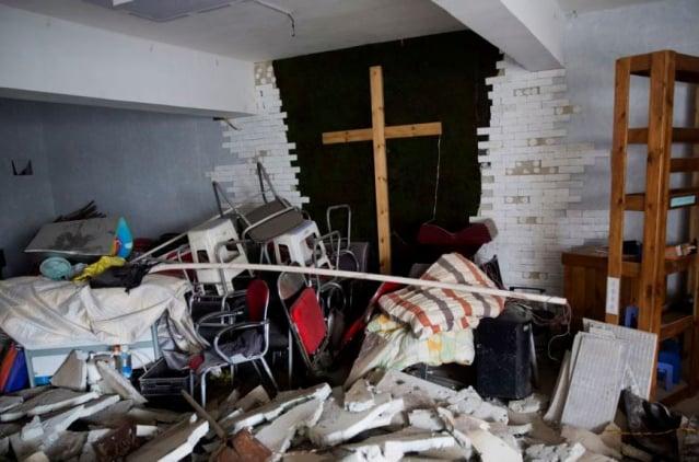 圖為河南一座教堂2018年被強拆。(網路圖片)