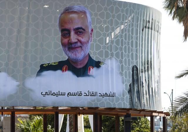 2020年1月,川普下令發動無人機斬首行動,擊斃了伊朗頭號軍事指揮官蘇雷曼尼。(AHMAD AL-RUBAYE/AFP via Getty Images)
