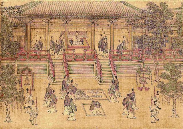 孟嘗君繼承了父親的封邑薛城,為齊相幾十年。圖為南宋 馬和之《小雅南有嘉魚篇書畫卷》(局部)。(維基百科)