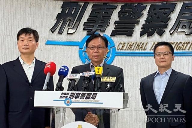刑事局副局長鄧學鑫26日表示,警政署於21日至25日執行「全國同步掃黑行動專案」,共掃蕩168名黑幫份子到案。(記者袁世鋼/攝影)