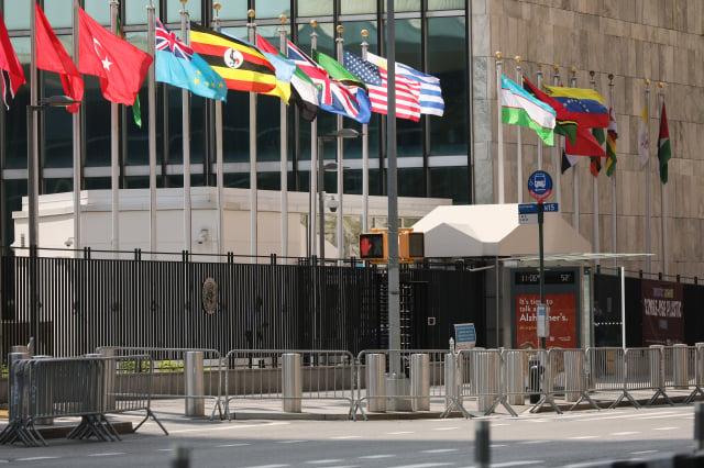 外交部表示,我國14友邦全數都寫信挺臺灣參與聯合國。(Spencer Platt/Getty Images)