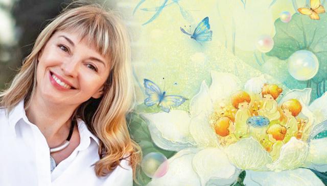 語言治療師柳德米拉‧奧勒爾創作一部《蓮花的故事》(Lotus Fairy Tale)。(Armina Nimenko提供)