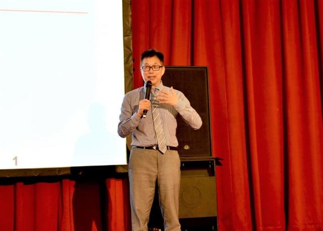 圓山飯店董事長林育生在開場中引言致詞。