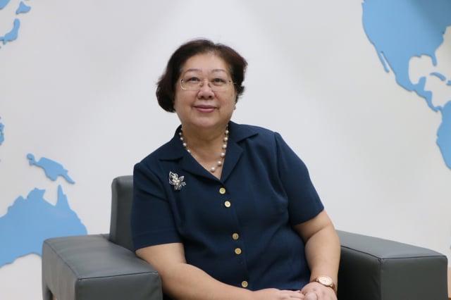 國慶僑胞致詞代表宋明麗長年致力在美國提高臺灣能見度。