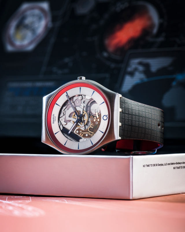 316L鋼材質打造SKIN Irony超薄金屬腕表。(品牌提供)