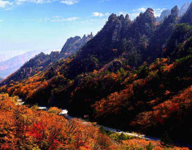 秋季的襄陽,大地撒上斑斕色彩,更顯壯麗。(江原道襄陽郡提供)