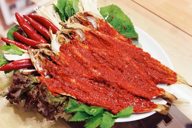 辣烤明太魚。(江原道麟蹄郡提供)