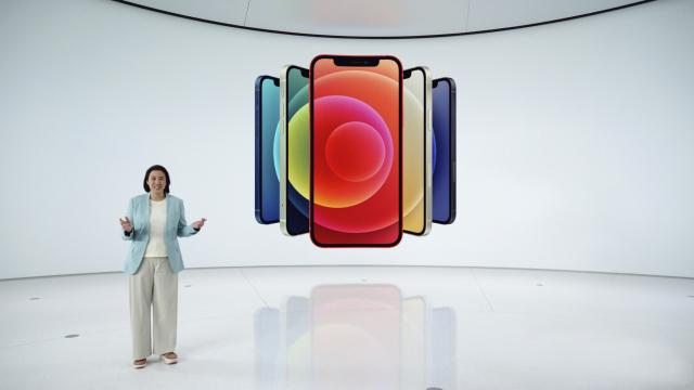 蘋果發布4款支持5G技術的iPhone 12。(Apple Inc./AFP)