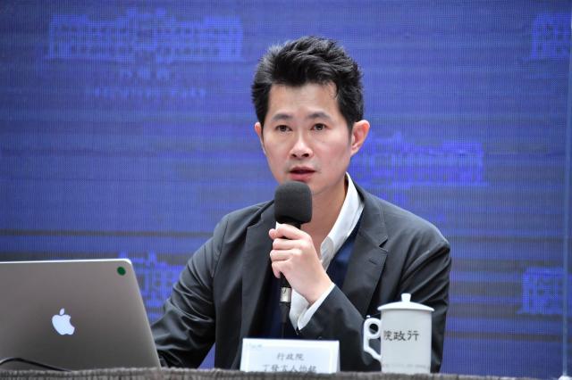 行政院發言人丁怡銘15日表示,對於中資違法投資,都會嚴審嚴查,並持續彌補法制面的缺失。(行政院提供)
