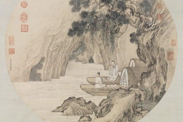圖為清 金廷標畫《仙舟笛韻軸》。(維基百科)