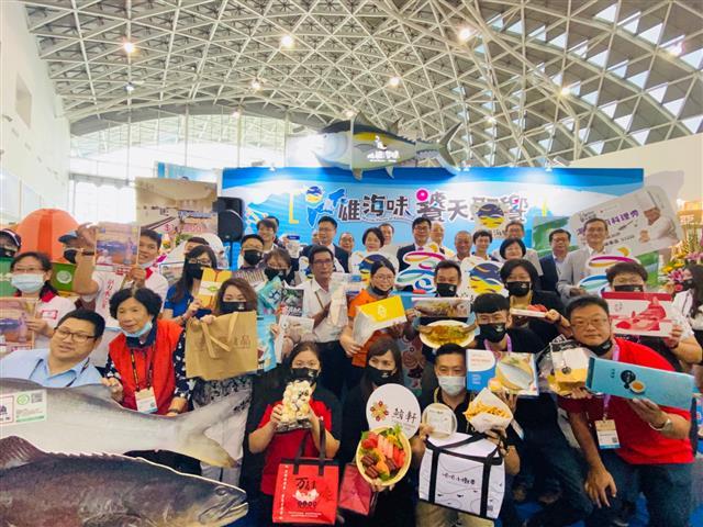 2020高雄國際食品展「海味專區」圓滿開展,高雄22家優質的水產等你來品嘗。(高雄市政府海洋局提供)