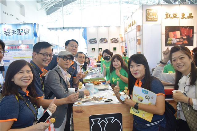 2020高雄國際食品展「海味專區」優質水產—凱亞良品。(攝影/鄭池南)