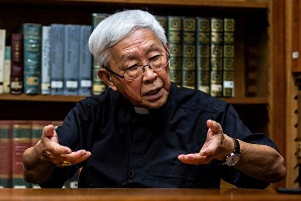 2020年9月11日,香港退休樞機主教陳日君接受法新社採訪。他在少年時為了躲避中共對宗教的迫害,逃到了香港。(ISAAC LAWRENCE/AFP via Getty Images)