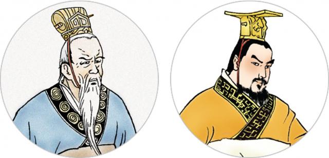 (左圖)范增向項梁獻計, 找楚王後代作為名義 上的諸侯領袖。(右圖)楚懷王的孫子被立為王,也叫楚懷王。(新唐人《笑談風雲》提供)