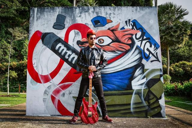 馬來西亞樂團Muffin Scars吉他手Kelvyn Yeang。(Glass Ch'ng攝影提供)