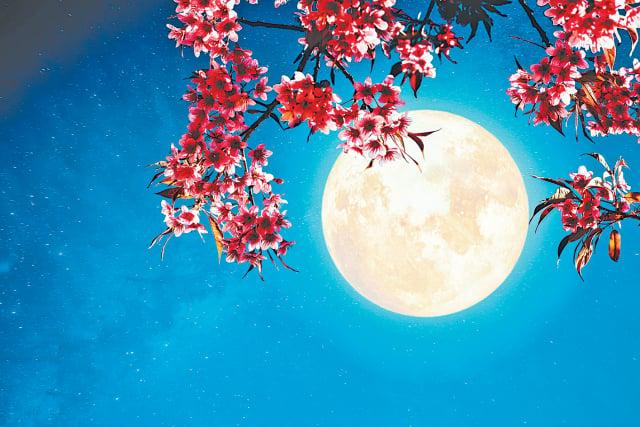 時值中秋,晚上天氣晴朗,月色明亮,一邊閒聊一邊賞月。(Shutterstock)