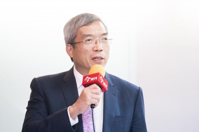 財信傳媒董事長謝金河28日表示,這次大選是美國未來路線的選擇。(記者陳柏州/攝影)