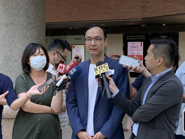 前國民黨主席朱立倫表示,美國不管是誰執政,臺灣最重要的是堅持親美立場。(中央社)