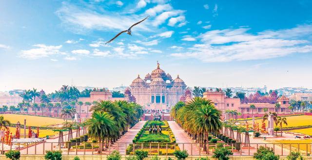 位於德里的印度教寺廟阿克薩達姆神廟。(Shutterstock)