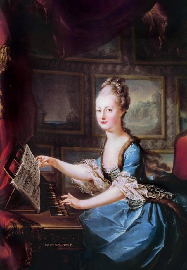 法國王后瑪麗·安托瓦內特(Marie Antoinette)的畫像。(公有領域)
