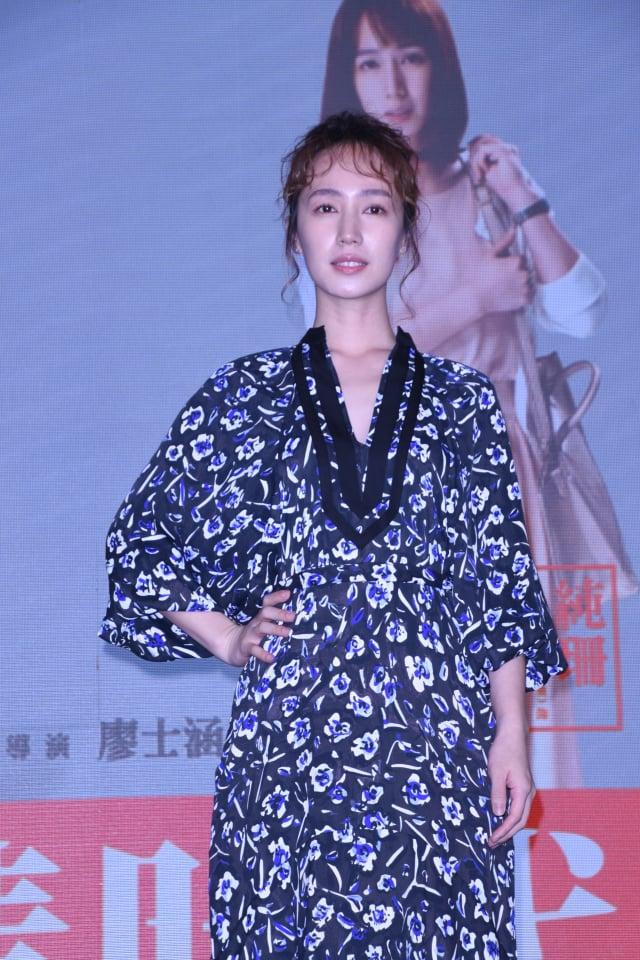 小薰18日出席戲劇《大債時代》發布會。 (記者黃宗茂/攝影)