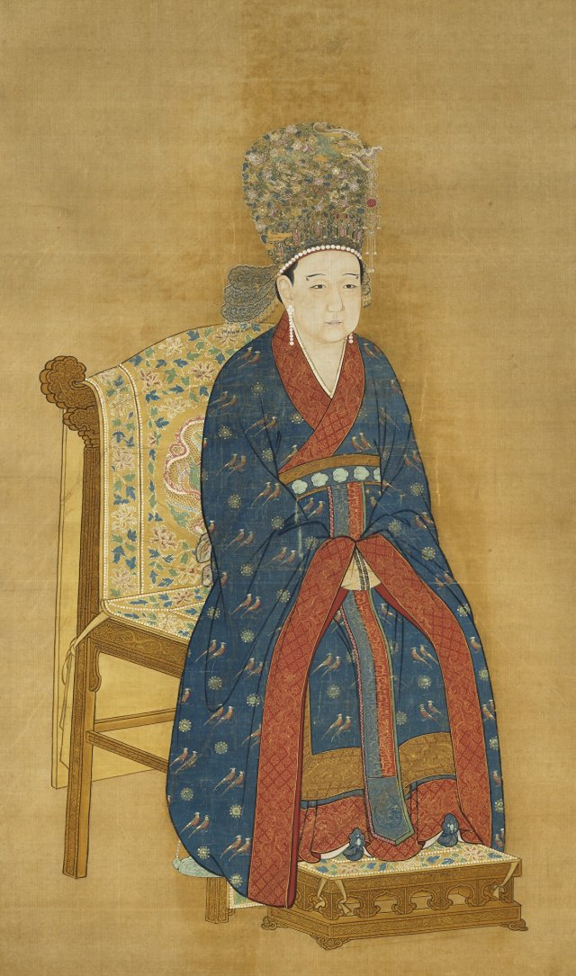 《宋寧宗后半身像》(恭聖皇后)。(維基百科)
