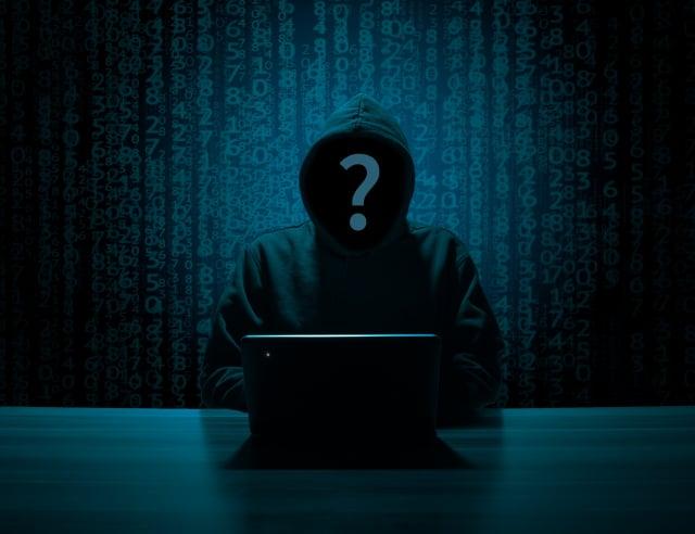 2020年最糟密碼由「123456」奪冠。這種太簡單的密碼容易被駭客破解。圖為駭客示意圖。(Pixabay)