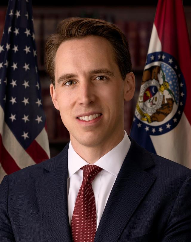 圖為美國共和黨參議員霍利。(維基百科)