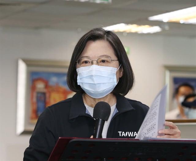 總統蔡英文表示,過去4年多,臺美關係進展以及美國政府對臺灣支持,國人有目共睹。(中央社)