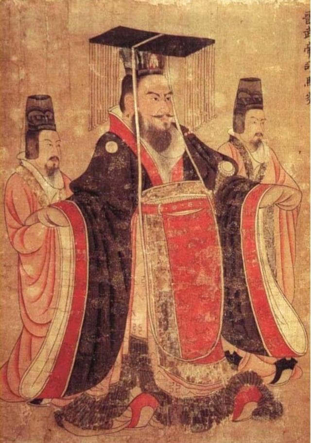 晉武帝司馬炎畫像,唐閻立本繪《歷代帝王圖》,美國波士頓美術館藏。(維基百科)
