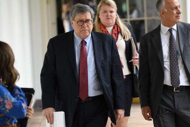 美國司法部聲明,沒有選舉舞弊一說不是司法部長說的。圖為美國司法部長巴爾(William Barr)。(SAUL LOEB/AFP via Getty Images)