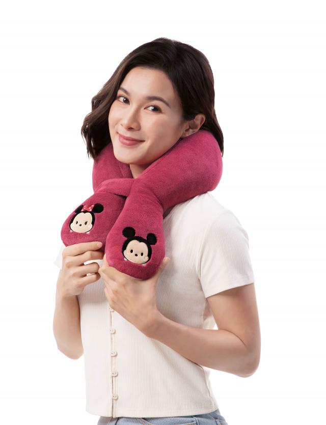 按摩圍巾紓緩肩頸疲勞。(OSIM提供)