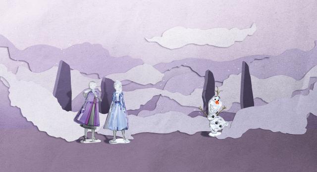 冰雪奇緣擺件洋溢魔法國度氛圍。(施華洛世奇提供)