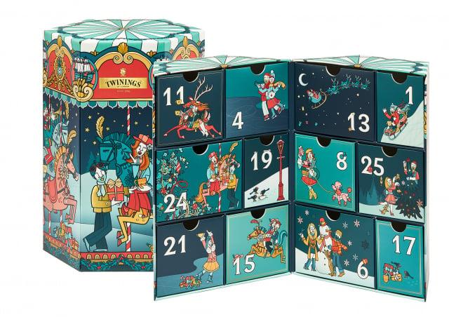 絢麗冬遊聖誕倒數禮盒收藏12款節慶風格禮品。 (唐寧茶提供)